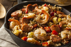 Spicy Homemade Cajun Jambalaya Stock Photography