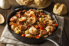 Spicy Homemade Cajun Jambalaya Stock Image