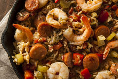 Spicy Homemade Cajun Jambalaya Stock Photo
