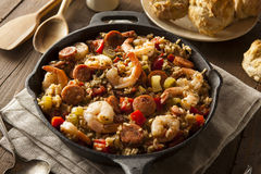 Spicy Homemade Cajun Jambalaya Royalty Free Stock Photo
