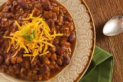 Spicy Homemade Chili Con Carne Soup Stock Images