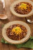 Spicy Homemade Chili Con Carne Soup Stock Photos