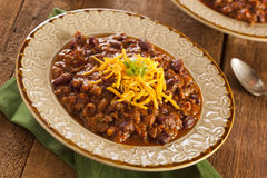 Spicy Homemade Chili Con Carne Soup Royalty Free Stock Images