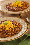 Spicy Homemade Chili Con Carne Soup Royalty Free Stock Photo