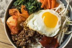 Spicy Homemade Korean Bibimbap Rice Stock Photos