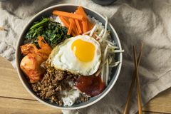 Spicy Homemade Korean Bibimbap Rice Stock Image