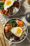 Spicy Homemade Korean Bibimbap Rice Royalty Free Stock Images