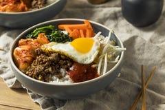 Spicy Homemade Korean Bibimbap Rice Royalty Free Stock Image