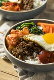 Spicy Homemade Korean Bibimbap Rice Royalty Free Stock Photo
