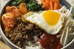 Spicy Homemade Korean Bibimbap Rice Stock Images
