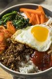 Spicy Homemade Korean Bibimbap Rice Stock Photography
