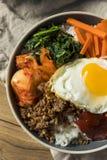 Spicy Homemade Korean Bibimbap Rice Royalty Free Stock Photos