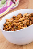 Spicy homemade trail mix snack Royalty Free Stock Images