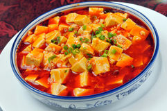 Spicy hot bean curd Stock Photography