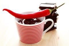 Spicy hot chocolate Stock Photos