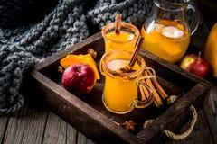 Spicy hot pumpkin sangria Stock Photos