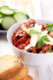 Spicy indian curry. In a bowl Stock Image