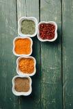 Spicy ingredient assortment stock photo
