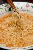 Spicy Instant Noodles Stock Photo