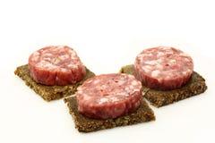 Spicy Italian salami sausage Stock Images