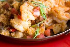 Spicy jambalaya. Made with sausage and shrimp Stock Photo