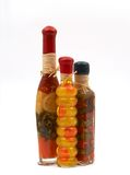 Spicy jars. On white royalty free stock photo