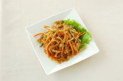 Spicy jelly fish. Chinese cuisine. chinese food cold dish. yumcha Stock Photography