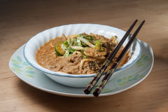 Spicy Johor Laksa in a bowl ready to eat Stock Images