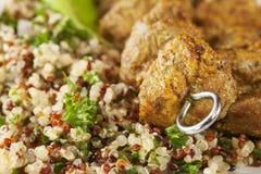 Spicy Kebab with Quinoa Salad stock photos