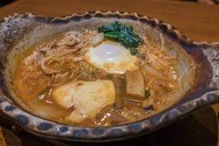 Spicy Kimchi Tofu Soup Royalty Free Stock Photos