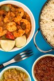 Spicy King Prawn Bhuna Curry Royalty Free Stock Photography