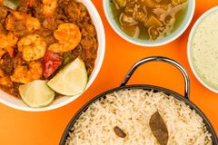 Spicy King Prawn Bhuna Curry Stock Images