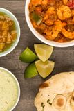 Spicy King Prawn Bhuna Curry Stock Image