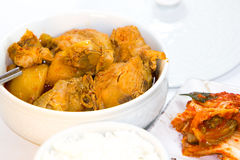 Spicy Korean chicken Royalty Free Stock Images