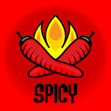 Spicy label Royalty Free Stock Photography