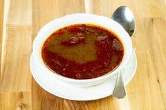 Spicy lentil soup Stock Photo