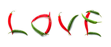 Spicy love sign Stock Photos