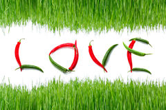 Spicy love sign Stock Photo
