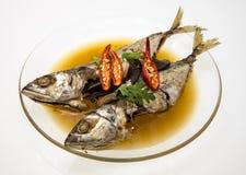 Spicy Mackerel in Sweet Black Sauce (Pla tu tom khem). Royalty Free Stock Photos