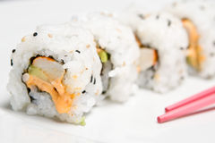 Spicy maki (zoom) Royalty Free Stock Image