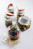 Spicy marinated olives Royalty Free Stock Photo