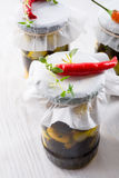 Spicy marinated olives Royalty Free Stock Photography