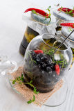 Spicy marinated olives Royalty Free Stock Image