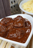 Spicy meat goulash Stock Photos