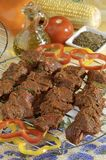 Spicy meat kabobs Stock Images