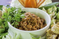 Spicy meat and tomato dip spicy Stock Images