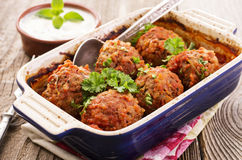 Spicy Meatballs Royalty Free Stock Image