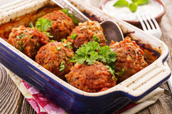 Spicy Meatballs Royalty Free Stock Images