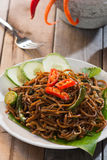 Spicy mee goreng Stock Photos