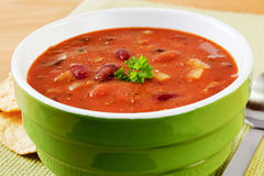 Spicy Mexican Bean Soup Stock Photo